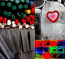 office supplies collage by Leeanne Middleton