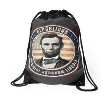 Republican President Abraham Lincoln Drawstring Bag