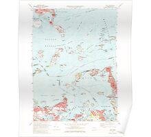 Massachusetts  USGS Historical Topo Map MA Hull 350221 1971 24000 Poster