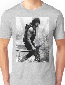 Rambo Stallone Autographed Photo B/W 1980's Unisex T-Shirt