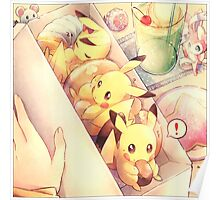 Pikachu pastry box Poster
