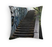 Abandoned Stairway Throw Pillow