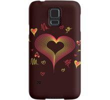 LOVE-Wireframe Warped Heart Samsung Galaxy Case/Skin