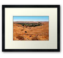 Small town in Australia Framed Print