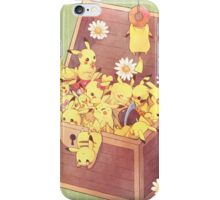Pikachu treasure box iPhone Case/Skin