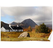 Black Rock Cottage Glen Coe Poster