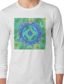 Mixed Media Mandala Long Sleeve T-Shirt