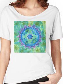 Mixed Media Mandala Women's Relaxed Fit T-Shirt