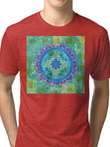 Mixed Media Mandala Tri-blend T-Shirt