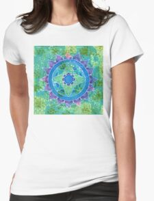 Mixed Media Mandala Womens Fitted T-Shirt