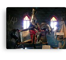 Medival knight Canvas Print