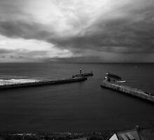 Storm at Whitby by domediart