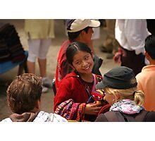 Mayan girl at market Photographic Print