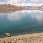 Turquoise Lake, Tibet by Stephen Tapply