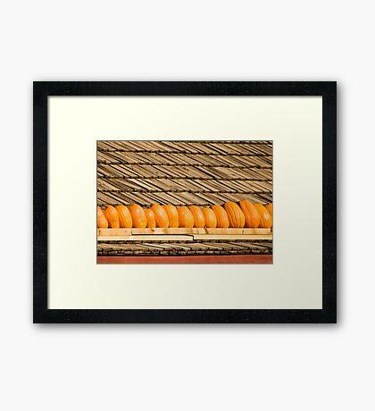 Pumpkin Pattern Framed Print