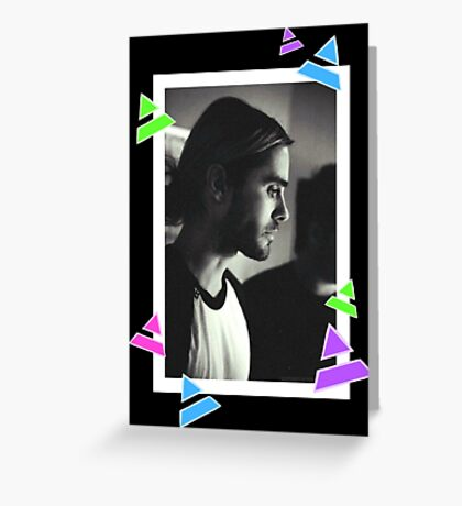 Manbun Jared Leto Greeting Card