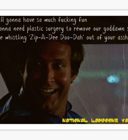 Funny Quotes-National Lampoons Vacation Sticker