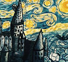 Starry Night Over Hogwarts by bvghbc