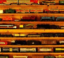 many trains Sticker