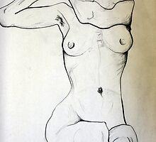 Female Nude (egonschiele) by Anna  Albonetti