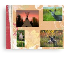 September Autumn Collage Canvas Print