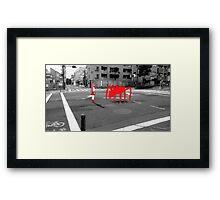 Monogatari – Red Crab Framed Print