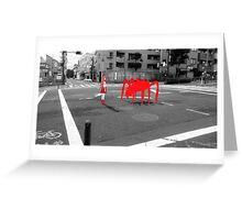 Monogatari – Red Crab Greeting Card