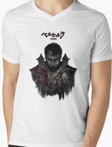 Berserk - Guts / Gattsu - The Black Swordsman Mens V-Neck T-Shirt