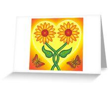 sunflower eternal love Greeting Card