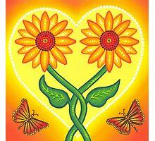 sunflower eternal love Photographic Print