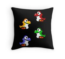 Yoshi Babies Throw Pillow