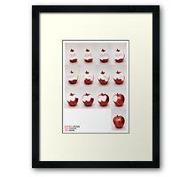 one apple Framed Print