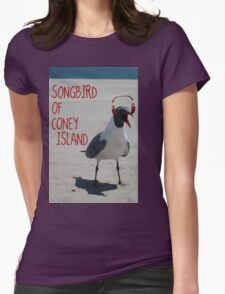 Coney Island Songbird Womens Fitted T-Shirt