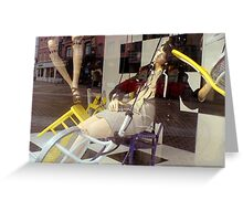 Wooden legs 2 - dropping in... Greeting Card