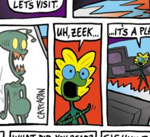 ZEEK ... The Martian Geek - planet TVs comic Sticker