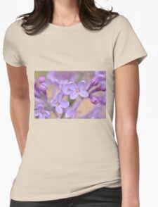 Lilac Macro, As Is Womens Fitted T-Shirt