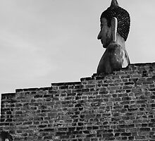 Buddha over the wall by Kaylea
