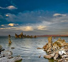 Mono Lake Early Evening Lenticular Clouds by photosbyflood