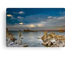 Mono Lake Early Evening Lenticular Clouds Canvas Print