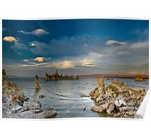 Mono Lake Early Evening Lenticular Clouds Poster