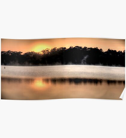 Golden Greeting - Narrabeen Lakes, Sydney - The HDR Experience Poster