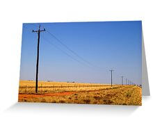 Outback road, Urana, NSW Greeting Card