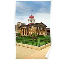 Springfield, Illinois - Old State Capitol Poster