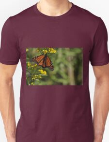 Monarch Butterfly on Goldenrod, As Is Unisex T-Shirt