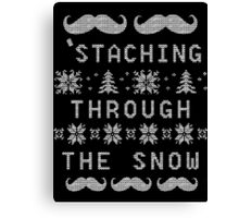 'Staching Through The Snow Canvas Print