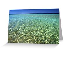 Clear water, Coral Bay, WA Greeting Card