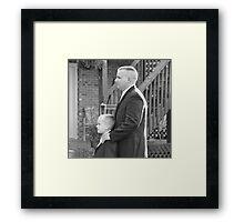 Groom and Son Framed Print
