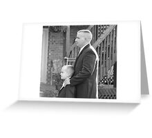 Groom and Son Greeting Card