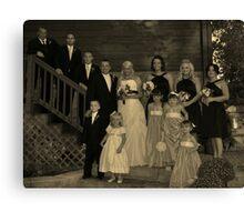 Ulshafer Wedding Portrait in Sepia Canvas Print