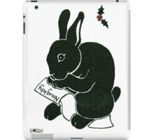 2013 Holiday ATC 15 - Rabbit Looking at the Naughty List iPad Case/Skin